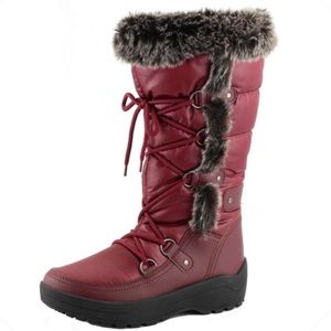 Nature Breeze Wine Lace-Up Mid Calf Snow Boot